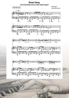 Ноты Dua Lipa - Swan Song (From the Motion Picture Alita: Battle Angel) - Пианино&Вокал Sheet Music, Music Sheets