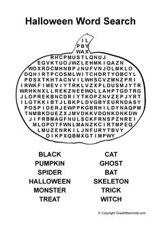 FREE Download: Hunger Games Halloween Word Search