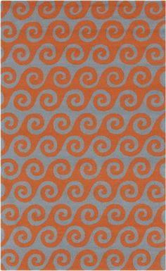 Surya RAI-1138 Themed Outdoor Area Rug, 3-Feet by 5-Feet, Orange Made from 100% Polypropylene. Size: 3' x 5' 100% Polypropylene. Made in China.  #Surya #Home