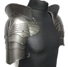 Larp armor Gothic fluted pauldrons