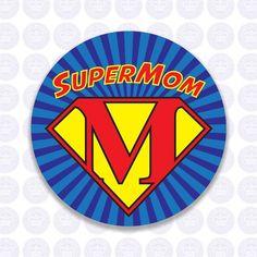 Super Mom Decal - Super Mom Bumper Sticker - Mother's Day Decal - Mom Laptop Sticker - Sticker Gift for Mom Free Ship Laptop Stickers, Bumper Stickers, Cool Emoji, Corporate Event Planner, Free Printable Banner, Mom Cake, Rangoli Designs Diwali, Yeti Decals, Super Mom