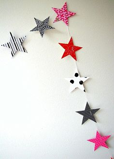 Magical Star Garland by paperklipdesign on Etsy
