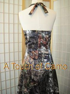 The Big Red Neck Trading Post - ATOC-AE13: MANDY -Halter Top A Line Camo Wedding Gown, $425.00 (http://www.thebigrednecktradingpost.com/products/atoc-ae13-mandy-halter-top-a-line-camo-wedding-gown.html)