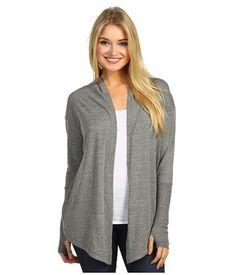 It's grey and has thumb holes. Of course I love it.    Alternative Apparel Thumbs Up Wrap