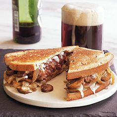 Mushroom and Provolone Patty Melts | CookingLight.com