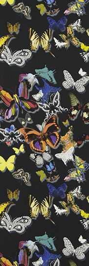 Buy Christian Lacroix for Designers Guild Butterfly Parade Wallpaper from our Wallpaper range at John Lewis & Partners. Black Wallpaper, Fabric Wallpaper, Wall Wallpaper, Pattern Wallpaper, Designers Guild Wallpaper, Designer Wallpaper, Wallpaper Designs, Christian Lacroix Wallpaper, Wallpaper Online