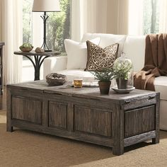 Charmant Tuscany Storage Coffee Table