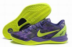 huge selection of 65a96 b6082 Really Cheap Kobe 2018 Fashion Nike Kobe 8 Purple Gradient Volt Lime Green
