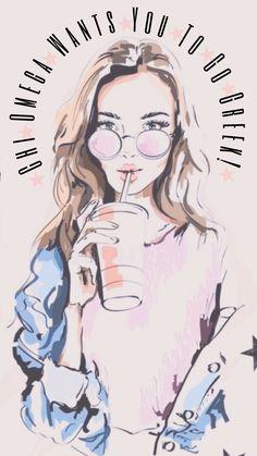 Sorority Outfits, Sorority Life, Chi Omega Recruitment, Words Wallpaper, Go Greek, Sorority Canvas, Custom Greek Apparel, Alpha Chi Omega, Story Highlights