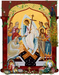 Pascha Icon--Christ is Risen (very soon at least!)