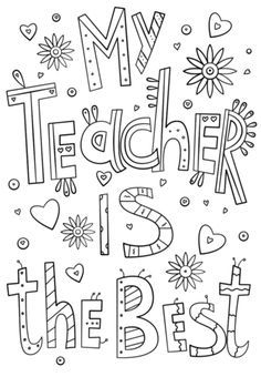 Teacher Appreciation Week - Coloring Pages | Classroom ...
