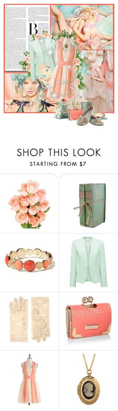 """Pastel Turquoise & orange"" by jen-ela ❤ liked on Polyvore featuring Banana Republic, Forever New, ASOS, Red Herring and pastel"