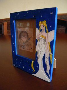 Sailor Moon Frame (hand-painted) by Matita's Art
