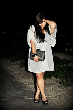 What I Wore: 12-11-12  #plussize #fashion #ootd    Curvy Girl Chic - Plus Size Fashion and Style Blog: a stark departure