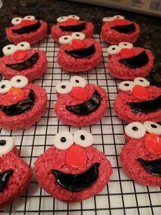 @ChristinaLEstrada Thanks for her Krispy Treats Elmo Style!