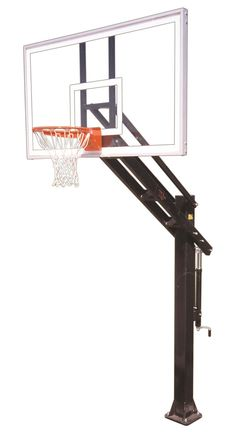 First Team Stainless Titan Supreme In Ground Adjustable Outdoor Basketball Hoop 72 inch Acrylic from NJ Swingsets