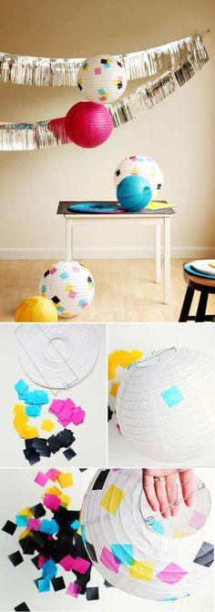 CMYK Lanterns ::::: Top 10 DIY Party Crafts