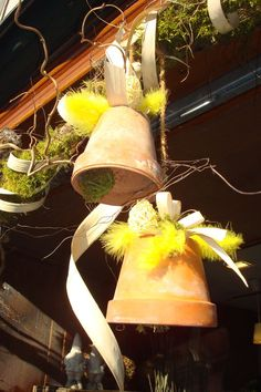 pot de fleurs cloches de Pâques