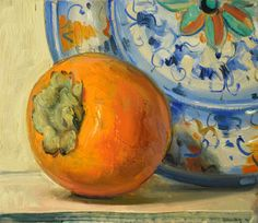 Persimmon and Plate, 2016 by Duane Keiser on Curiator, the world's biggest collaborative art collection. Food Painting, Painting Process, Painting & Drawing, Digital Museum, Collaborative Art, Flower Art, Still Life, Contemporary Art, Abstract Art