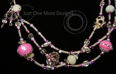 Lavender & Clear Glass Multistrand Necklace by JustOneMoreDesigns