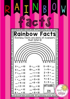 Rainbow+Facts:A+rainbow+facts+worksheet+to+help+students+revise+their+rainbow+fact+knowledge.+24+Rainbow+fact+sums+for+students+to+complete,+including+missing+numbers.+Key+terms:Rainbow+facts,+rainbow+facts+mental,+rainbow+facts+to+10,+rainbow+facts+mental+math,+mental+maths.