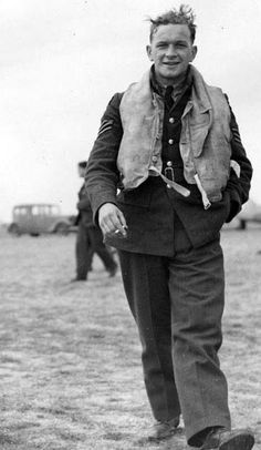 Sgt David E Lloyd of No 19 Squadron RAF is captured by AM photographer Stanley Devon at RAF Fowlmere in September 1940. Lloyd was posted to the squadron at the satellite airfield on 12 September and shared in destroying a Ju 88 on 18 September before being posted to No 92 Squadron RAF in November.