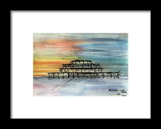 Brighton West Pier Framed Print by Kelly Goss Famous Landmarks, Wall Art For Sale, Wild Dogs, Watercolor Sketch, Travel Memories, Brighton, Special Gifts, United Kingdom, Spice