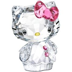 Swarovski Collectible Figurine, Hello Kitty Bow- Retired in 2013 ❤ liked on Polyvore featuring home, home decor, hello kitty home accessories, hello kitty home decor, hello kitty and hello kitty figurines