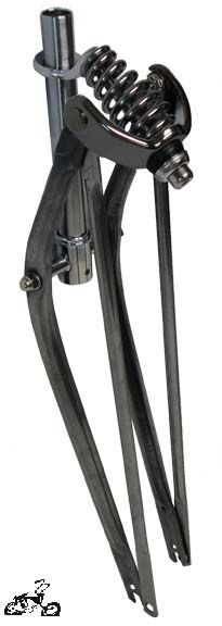 "26"" Straight Springer Fork Heavy Duty - RAW METAL"