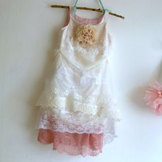 Couture flower girl dress or mori girl. White by MaidintheForest, $133.00