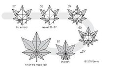 Why not try to make a beautiful maple origami? This is a fairly good idea,With us, making a beautiful maple origami Useful Origami, Diy Origami, Origami Tutorial, Origami Ideas, Origami Maple Leaf, Origami Leaves, Leaf Crafts, Diy And Crafts, Diagrammes Origami
