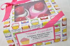 nice label for diaper cupcakes, listing contents