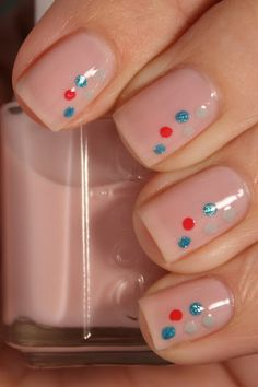 Dotted Nude. Subtle and really cute! #nails