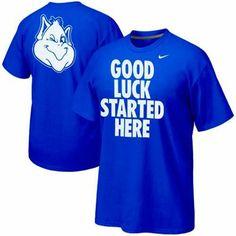 Love it! Nike Saint Louis Billikens Basketball Good Luck Started Here Campus Roar T-Shirt - Royal Blue