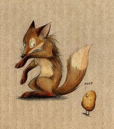 The Fox and the Potato by Skia.deviantart.com on @deviantART