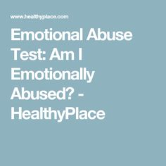 emotionally abusive relationship quizzes and tests