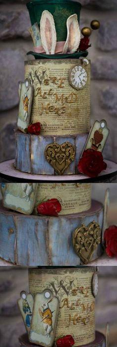 Best vintage wedding cake ideas cupcakes alice in wonderland 33+ ideas #wedding #vintagewedding