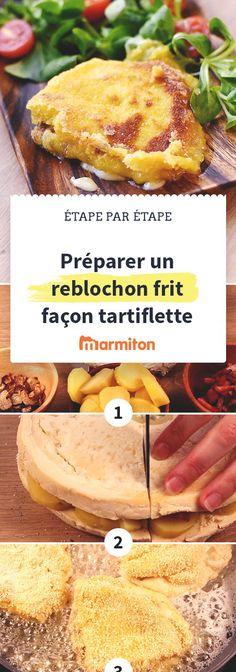 Reblochon frit façon tartiflette, une recette ultra gourmande pour se régaler #reblochon #tartiflette #recette #marmiton #recettemarmiton #cuisine