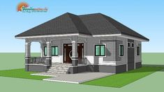 A single storey house is affordable. It also offers more flexibility as it can combine spaces that serve multiple functions. Simple Bungalow House Designs, Modern Bungalow House Design, Modern Small House Design, Simple House Design, House Front Design, Two Story House Design, Village House Design, Philippines House Design, Affordable House Plans