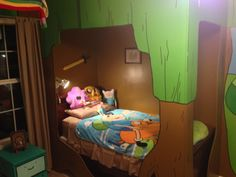 Adventure Time Bedroom Project - the bed frame is the treehouse! My New Room, My Room, Adventure Time Room, Girls Bedroom, Bedroom Decor, Awesome Bedrooms, Dream Rooms, My Dream Home, Diy Home Decor