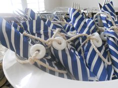 """Son of a Sailor"" Baby Shower - Utensils"