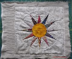 Quilted/patchwork twelve-point star