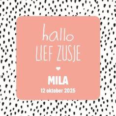 Hallo lief zusje! Een schattig geboortekaartje voor de aankondiging van een meisje.  #Hallmark #HallmarkNL #geboortekaartje #hip #meisje