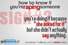 #HowToKnowIfYoureRapingSomeone #Sign2