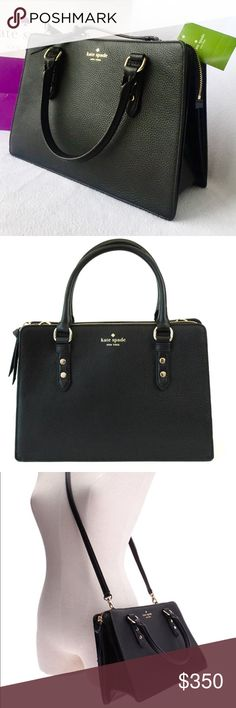 Kate Spade Lise Mulberry Street Kate Spade Lise Mulberry Street. Satchel Bag. As seen. NWT. Soft leather. Comes with detachable/adjustable strap with approx. 20-24 inch drop for shoulder or crossbody wear. Contains three compartments, the front and rear compartments feature magnetic snap closures while the central compartment features top zip closure. Interior lined in Kate Spade signature fabric. Measurements: 12 x 8 x 4.5. Super cute. kate spade Bags Satchels