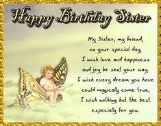 Birthday For Brother & Sister Cards, Free Birthday For Brother & Sister Wishes Birthday Wishes For Brother, Birthday Wishes Funny, Birthday Songs, Birthday Messages, Happy Birthday Penguin, Cute Happy Birthday, Free Birthday, Sister Day, Dear Sister