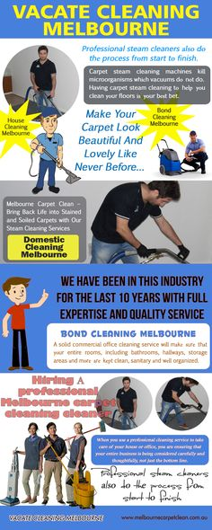 """Browse this site http://www.melbournecarpetclean.com.au/carpet-steam-cleaning/ for more information on carpet cleaners melbourne. Your carpets need carpet cleaners melbourne at least one or two times in a year depending upon their usage. This routine will keep your carpets clean and fresh. It is a fact that there is no """"steam"""" in the steam cleaning. On the other hand, hot water with a cleaning solution is used to steam clean your stuffs."""