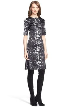 St. John Collection Leopard Print Silk Charmeuse Dress available at #Nordstrom