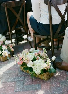 beautiful ceremony aisle decor | Melissa Schollaert #wedding