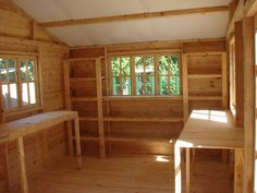 log cabin interior pictures | Wendys & Sheds :: Log Cabin - Interior
